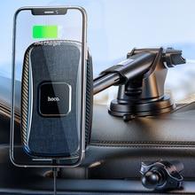 Xe Hơi HOCO Sạc Không Dây Qi 15W Đế Đứng Sạc Nhanh Cho iPhone 11 12 Pro Max 12 Mini Điện Thoại giá Đỡ Từ Lỗ Thông Khí Núi