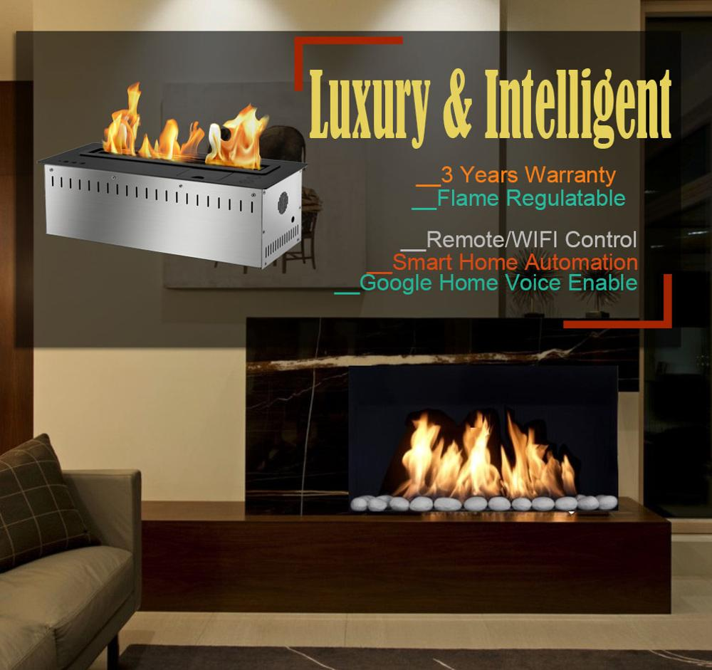 Inno Living 30 Inch Electronic Fireplace Bio Ethanol With Remote Control