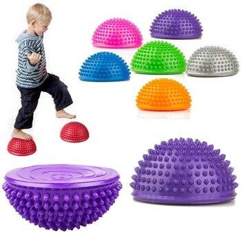 цена на Inflatable Half Yoga Ball Exercise Training Trigger Point Balance Ball PVC Gym Pilates Sport Fitness Massage Half Balance Ball