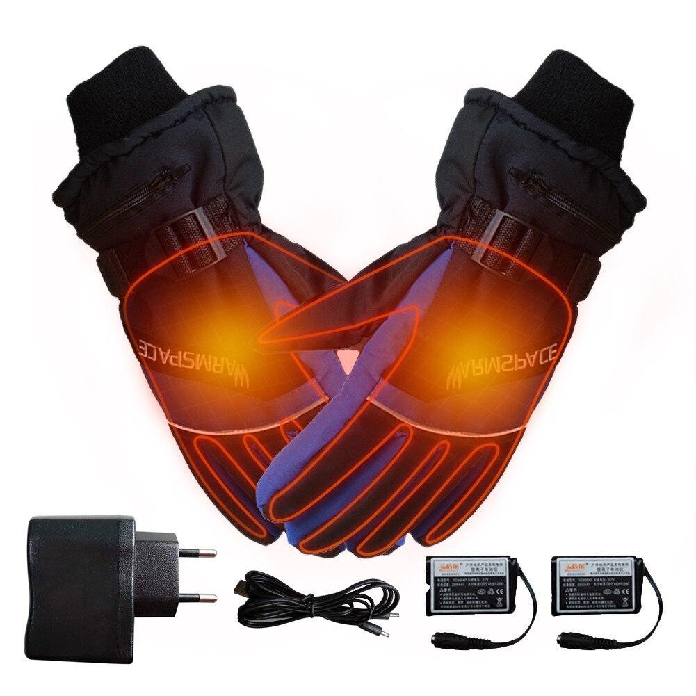 Зимние перчатки, лыжные перчатки с USB, перчатки для рук, теплые перчатки с электрическим подогревом, перчатки с перезаряжаемой батареей 4000 м...
