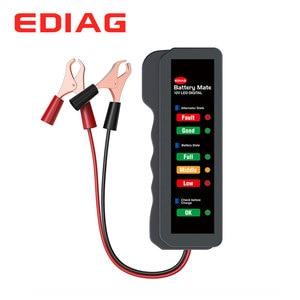 Image 1 - EDIAG Tester baterii BM310 12V miedziany kabel samochodowy cyfrowy 6 LED Light Alternator Auto analizator mocy