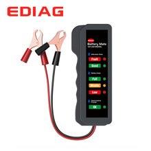 EDIAG pil test cihazı BM310 12V bakır klip kablo araba dijital 6 LED ışık alternatör oto güç analizörü
