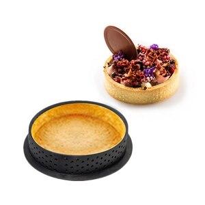DIY французская жаропрочная посуда для десерта, резак круглой формы, форма для торта, перфорированная силиконовая форма, инструмент для укра...
