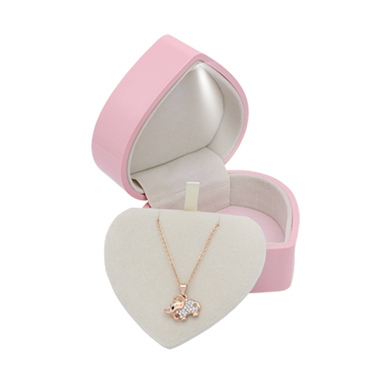 Ring jewelry box engagement  Heart shaped LED Pendant Jewellery Boxes Couple gift case  jewlery display stand