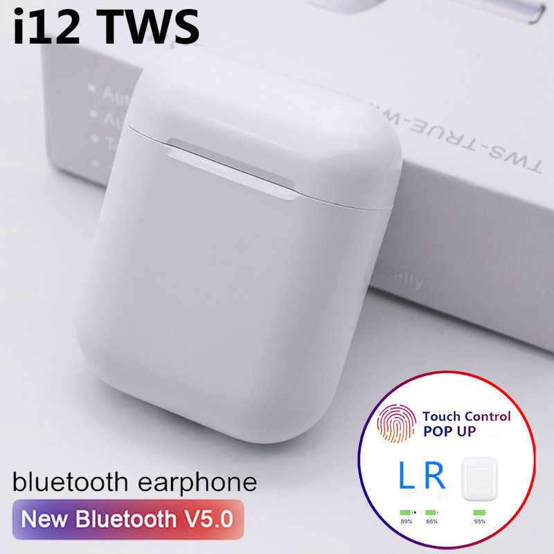 I12 Tws Bluetooth Headsets Earbuds Wireless Earphone Headphones Earpiece For Original Iphone And Android Phone Aliexpress