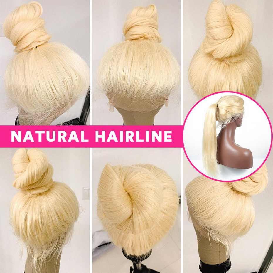 Ms lula 13x4 13x6 человеческие волосы на кружеве парики для черных женщин 613 парик на кружеве бразильский парик прямые волосы Remy блонд парик 150%