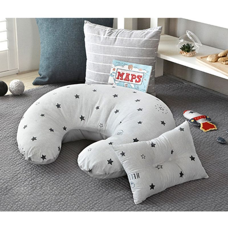Newborn Baby Feeding Pillow Maternity Infant Nursing Breastfeeding U-Shaped Cotton Cushion
