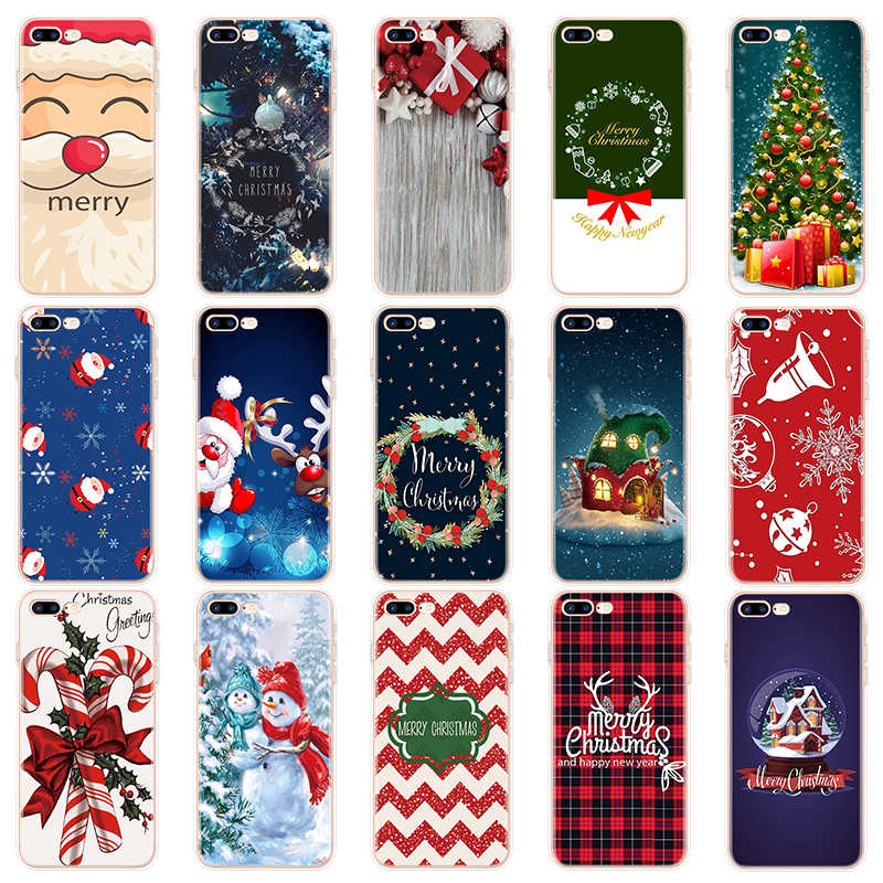 Christmas Case Soft Xmas Cover Coque For Iphone 11 Pro Max