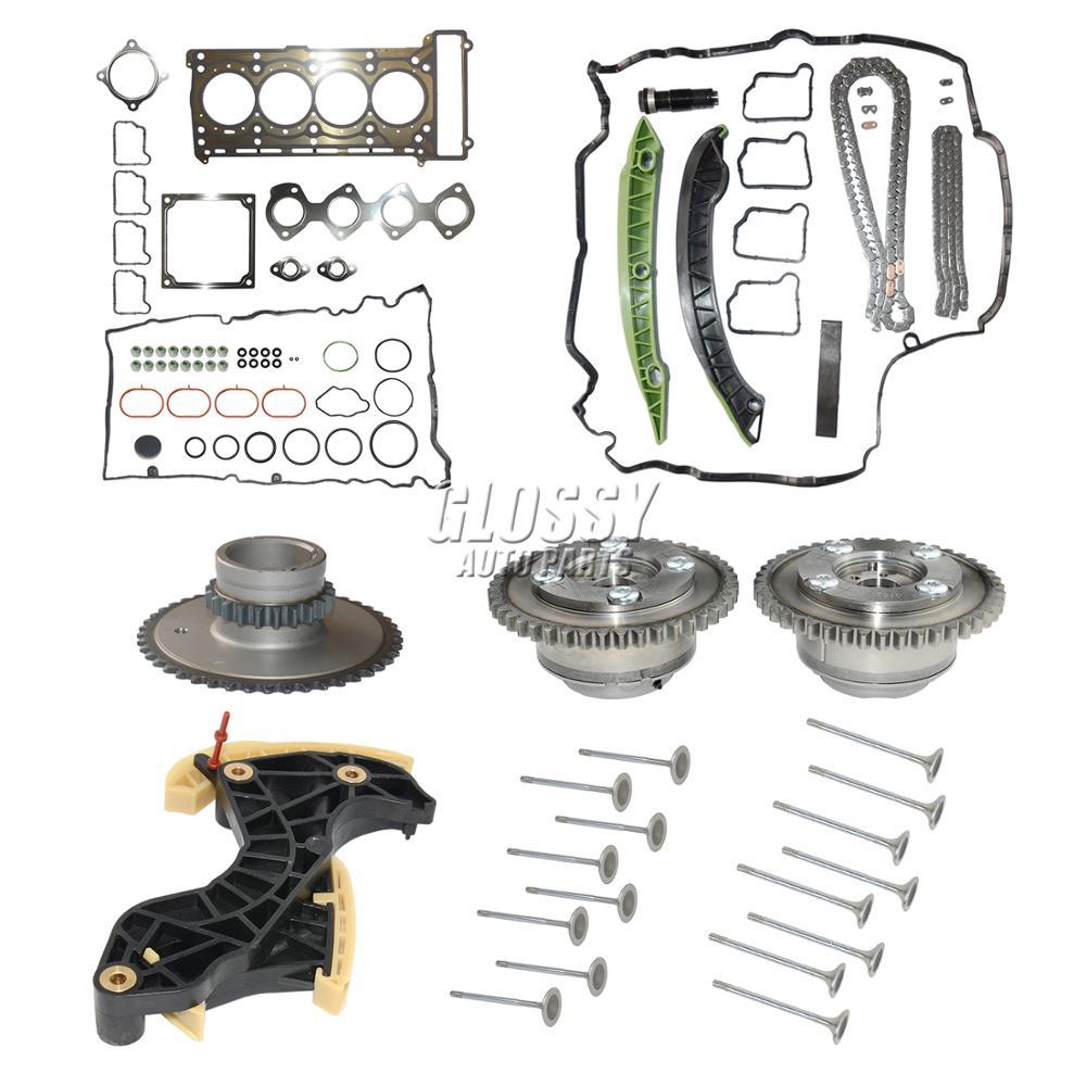 AP02 Timing Chain & Camshaft Adjuster & Gasket valve kit For Mercedes M271 C250 E250 SLK250 W203 W204 W212 W212 C180 C200 E200