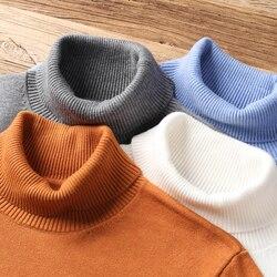 2020 nouveau automne hiver hommes chaud pull à col roulé de haute qualité mode décontracté confortable pull épais chandail mâle marque