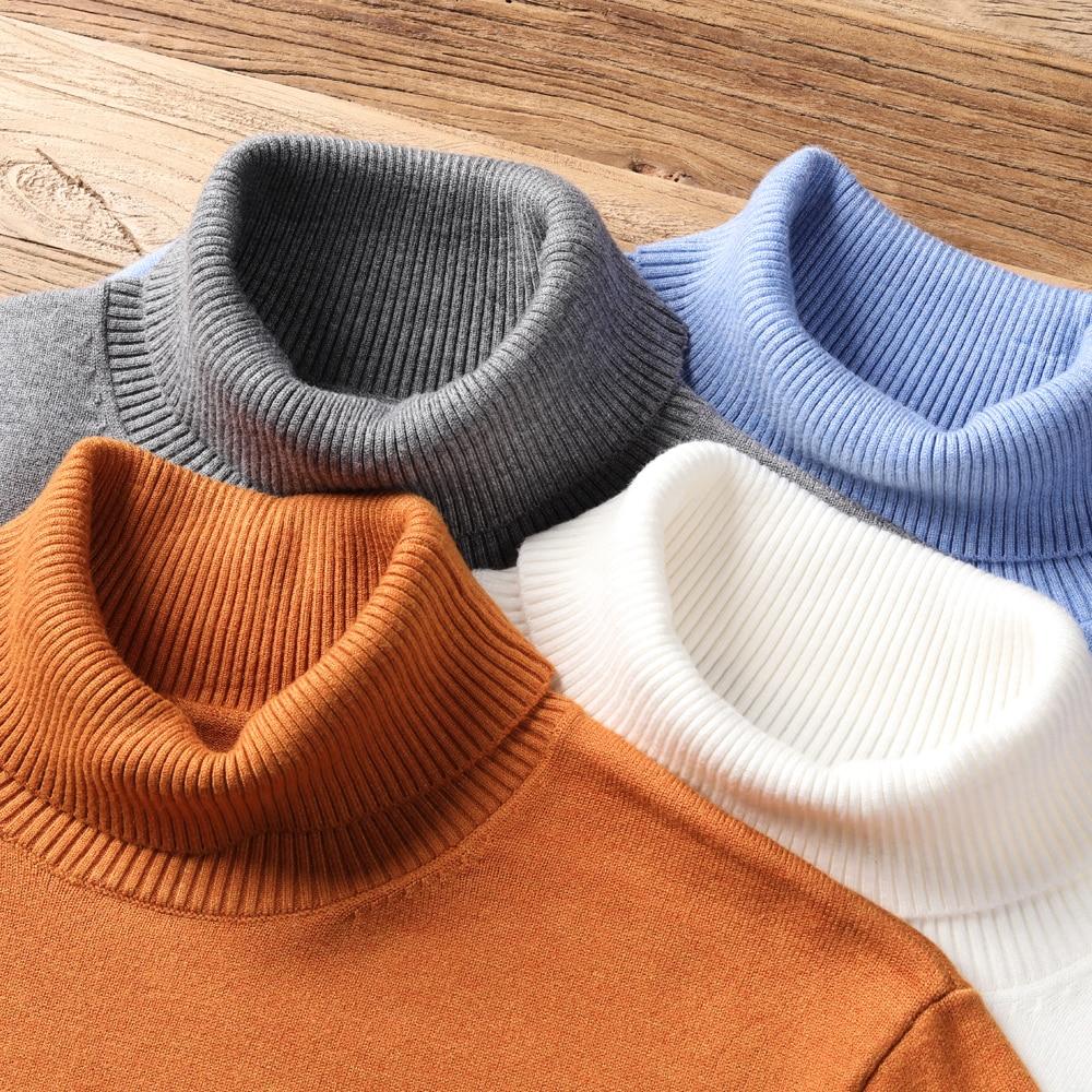 2020 новый осенне зимний мужской теплый свитер с высоким воротником, высококачественный Модный повседневный удобный пуловер, толстый свитер, мужской бренд|Bодолазки|   | АлиЭкспресс - Мужской свитер