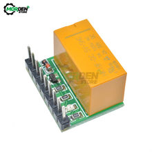 Ultra-kleine DPDT 9pin Elektromagnetische Relais DC 5V 12V Doppel Pole Double Throw Relais Modul Switch Board für Stereo Audio Motor(China)
