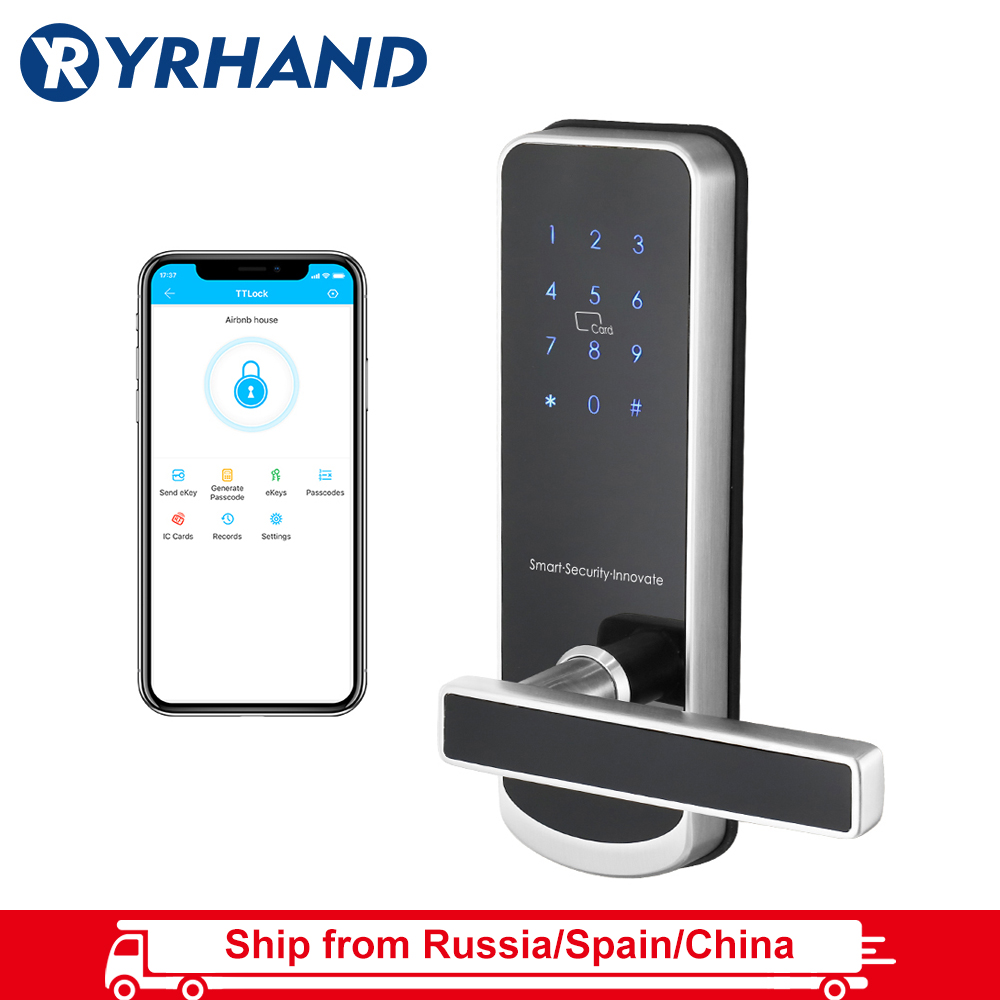 TT Lock App Security Electronic Door Lock, WIFI Smart Touch Screen Lock,Digital Code Keypad Deadbolt For Home Hotel Apartment