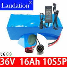 36V battery pack 16Ah electric bicycle 18650 Li-ion Battery 10S5P 800W High Power and Capacity Motorcycle Scooter with BMS