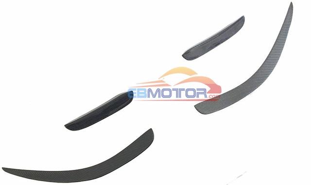 Front Bumper Lip Splitter Fins Spoiler 4PCS SET For Mercedes Benz W204 C63 AMG 11-14 M122 2