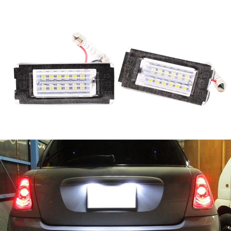 2Pcs LED Number License Plate Light No Error License Plate Light Lamps For BMW Mini Cooper R56 2006 - 2012
