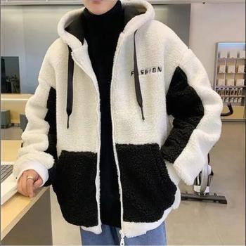 Lamb wool coat winter Korean version cashmere sweater cotton padded jacket students lazy wind clothes