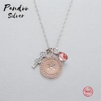 Fashion Charm 925 Sterling Silver Original 1:1 Copy, Twelve Constellation Smart Sagittarius Necklace Female Luxury Jewelry Gifts