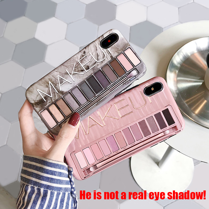 Fashion <font><b>Makeup</b></font> Shadow Eyes Stereotyped Phone Cover For <font><b>iPhone</b></font> X XS Max XR 6 6S 7 8 Plus Shiny Soft Silicone Rear Shield <font><b>Case</b></font> image
