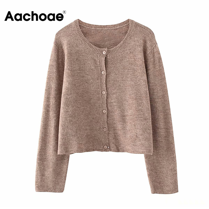 Women Casual Knitted Cardigan Sweater Spring 2020 Solid Color Single Breasted Cardigan Coat Ladies Fashion Long Sleeve Outwear
