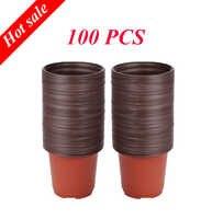 100 pièces plastique résistant aux chutes de semis plateau pépinière greffe Pots 10*7*9 cm pour homg jardin pot de fleur descoration
