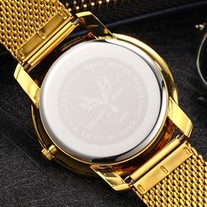 Image 5 - MISSFOX 40 мм женские часы минималистичные ультра тонкие стальные сетчатые часы модные повседневные водонепроницаемые 18 К Золотые женские кварцевые часы для девочек