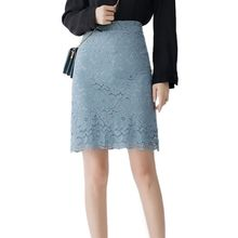 Women Bodycon Skirts Fashion Elegant Lace Hollow Out Floral Skirt Sexy Solid Tight Skirts 4Colors