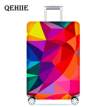 Купить с кэшбэком Thick Elastic Geometric Luggage Protective Cover Fashion Men's Women's Case Suitcase Trolley Baggage Travel Bag Cover
