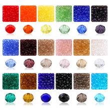 600 sztuk 4mm 6mm 5040 Briolette koraliki kryształowe kule fasetowane Austria haft koralikowy do tworzenia biżuterii najlepiej sprzedających się kolorów tanie tanio QIAO Brak CN (pochodzenie) Szkło ROUND Party Kobiety colorful beads Moda TRENDY round beads DIY biżuteria pakiet Inne