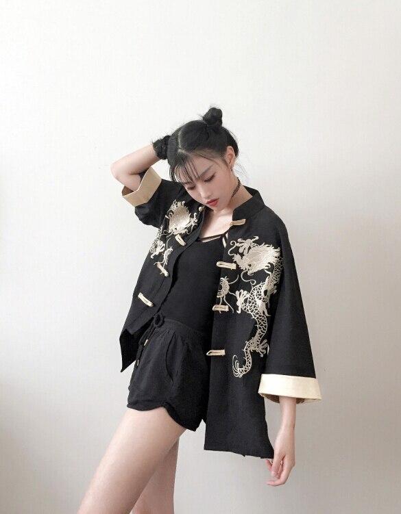 2019 New Women's Formal Robe Long Design Traditional Kimono Cos Clothes Japanese Kimono Beach Cardigan Japanese Tradition