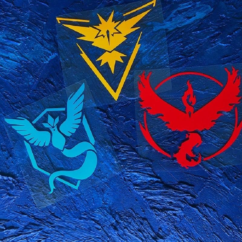 Flaming Bird Frozen Bird Pokemon Reflective Car Sticker Going Team Instinct Pokemon Pokemon Car Personality Fashion Sticker-in Car Stickers from Automobiles & Motorcycles