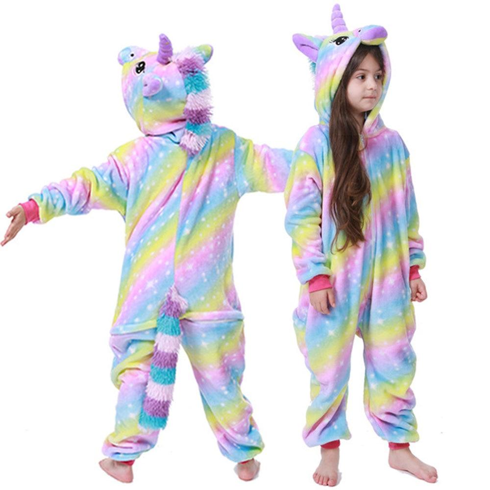 kids winter stich pajamas children panda dinosaur sleepwear unicorn kigurumi onesies for boys girls blanket sleeper baby costume 3