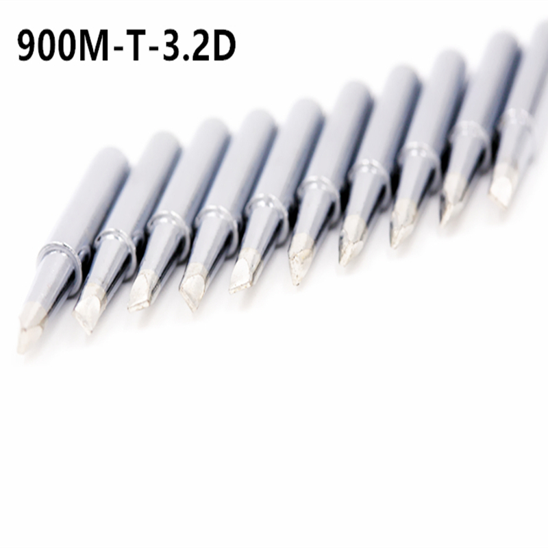SZBFT 10X Lead-free Replaceable Flat Shape 900M-T-3.2D Soldering Iron Tips Soldering Tips For Soldering Station Free Shipping