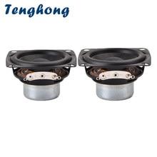 Tenghong – haut-parleur Bluetooth 2 pouces, 4ohm, 10W, 53MM, gamme complète, 20 cœurs, bord en caoutchouc, NdFeB, pour Home cinéma, bricolage