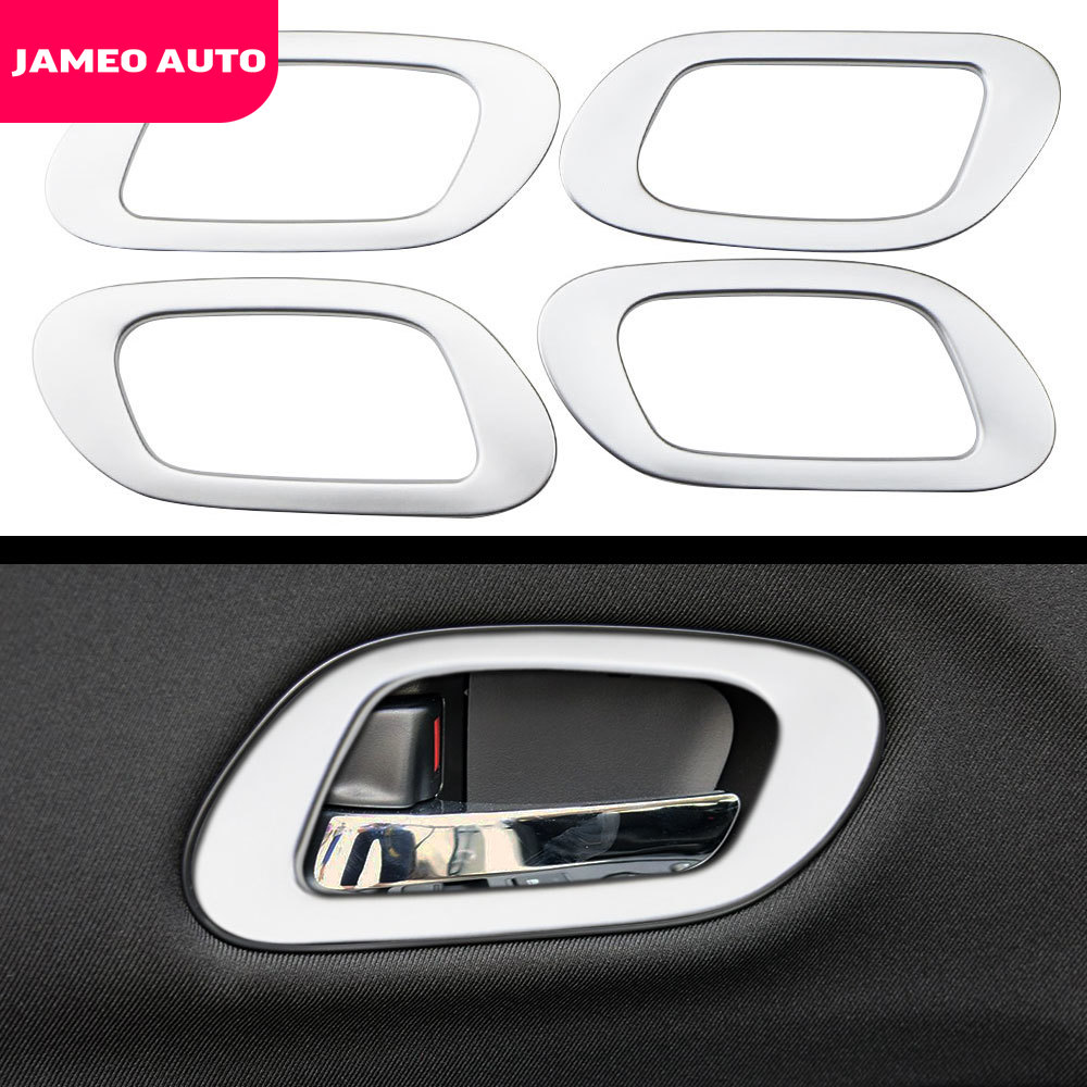 Car Internal Chrome 4pcs/set <font><b>Door</b></font> <font><b>Handle</b></font> Frame Sticker for <font><b>Honda</b></font> <font><b>HRV</b></font> HR-V Vezel 2013 2014 2015 2016 2017 2018 2019 Accessories image