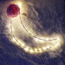 Милые лунные подвесные светильники для гостиной, креативный металлический каркас, светодиодный ночник, праздничные огни, год, день рождения, украшение для вечеринки