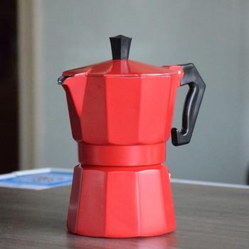 Italian Moka Espresso Coffeeware Mocha Latte Aluminum Coffee Maker Percolator Pot 100/200/300/450/600ML Stovetop Coffee Machine 2