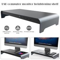 2019 Monitor Stand Smart Base Aluminum Alloy Computer Laptop Base Stand with 4 USB 3.0 Port H best