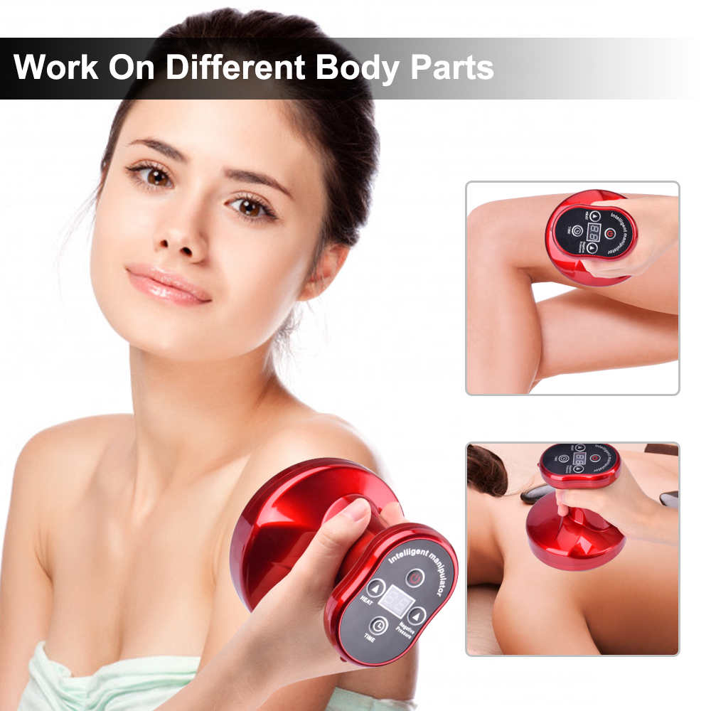 Electric Guasha Massager Ultrasonic RF Scraping Tool Fat Removal Body Slimming Stimulate Acupoint Detoxification Cupping Massage