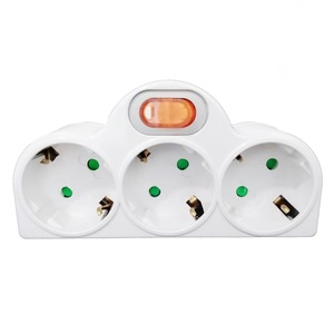 Image 1 - 4.8 Mm Eu Standaard Power Adapter Din Plug 1 Tot 3 Plug 250V Travel Adapter Power Converter Socket