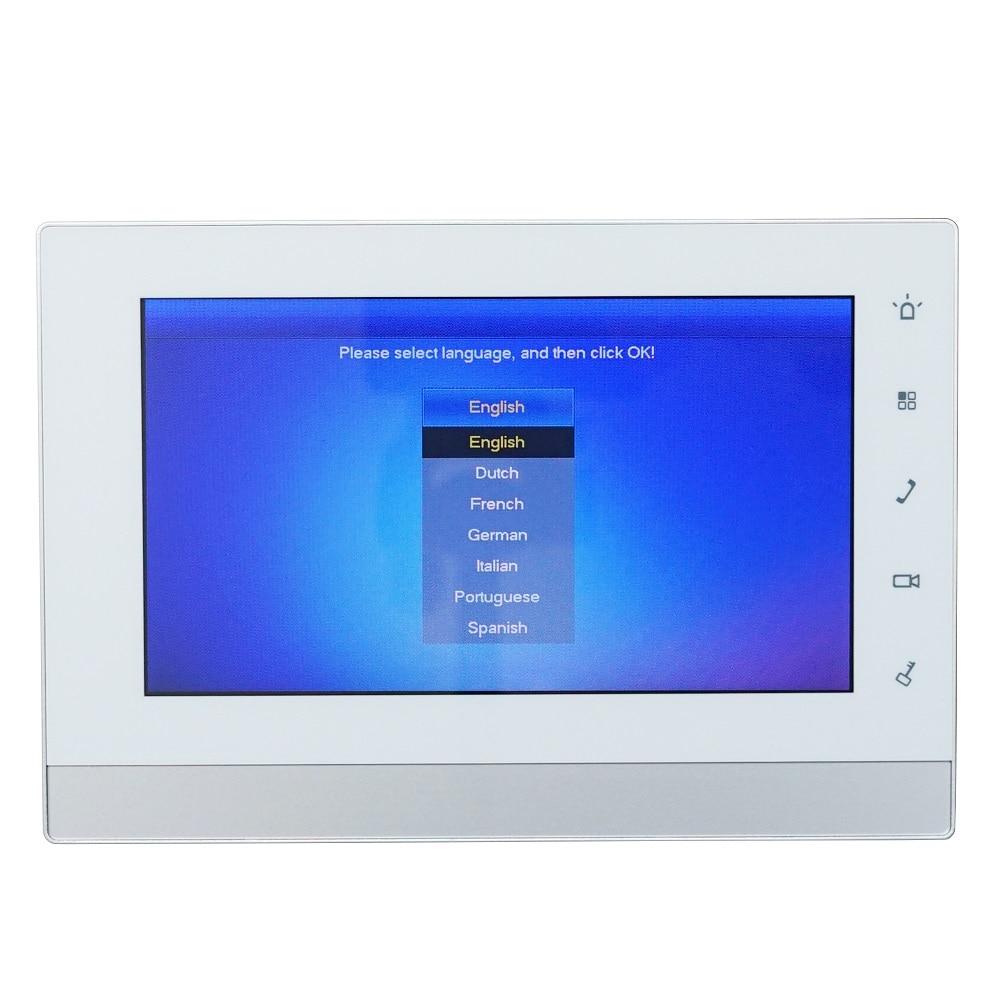 DH logo Multi Language VTH1550CH 7 inch Touch Indoor Monitor IP doorbell monitor Video Intercom monitor