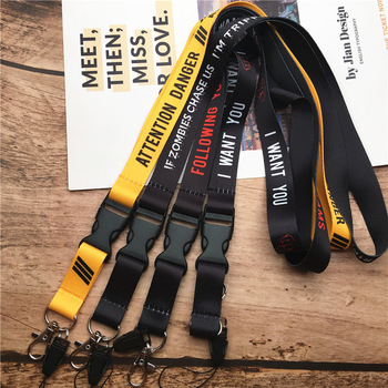 2 in 1 mobile phone lanyard key ring sling badge neckband Keychain anti-lost Badges ID Cell Phone Rope Neck Straps 1