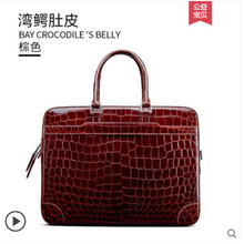 gete bay alligator porosus Imported genuine Estuarine crocodile  leather for men one shoulder luxury handbags briefcases