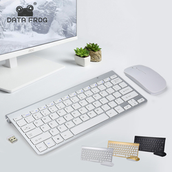 DATA FROG Portable Wireless Keyboard for IOS Android 2.4G Mini Keyboard Mouse Set For Mac/Notebook/TV Box/PC Office Supplies