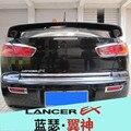 Otomobiller ve Motosikletler'ten Krom Şekillendirici'de Araba Styling ABS krom ön + arka sis lambası lamba kapağı Trim için Mitsubishi Lancer/Lancer X/Lancer evo 2008 2019 araba styling