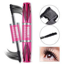 Bioaqua Double-head Eyelash Black Mascara Thicker Longer Curled Makeup Cosmetic Length Extension Long Curling Lengthener