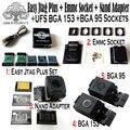 2019 original neue einfach jtag plus box + emmc buchse + nand adapter + ufs bga 153 buchse + ufs bga 95 buchse adapter