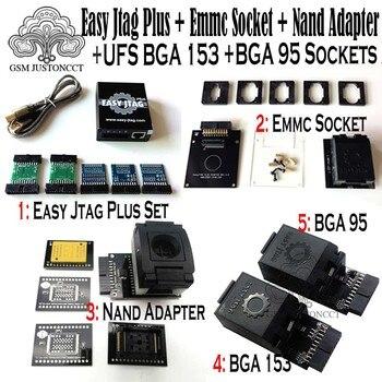 2019 original neue einfach jtag plus box + emmc buchse + nand adapter + ufs bga 153 buchse + ufs bga 95 buchse adapter-in Handy-Adapter aus Handys & Telekommunikation bei