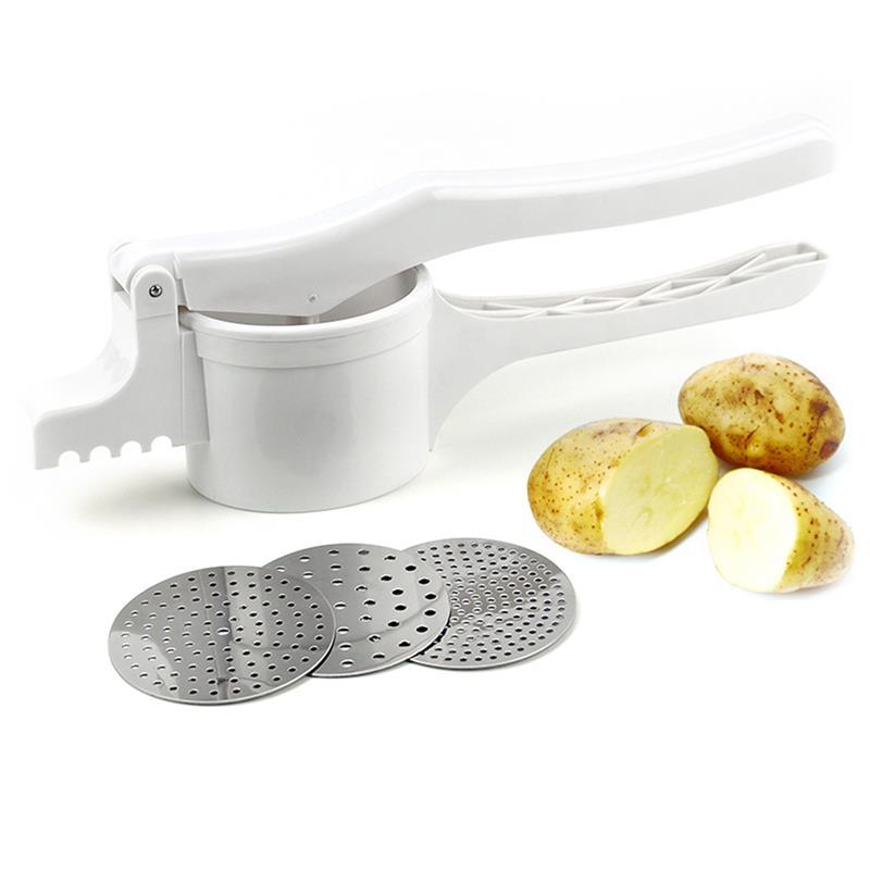 Картофель Ricer из нержавеющей стали картофель Masher Ricer Пюре фруктовый Овощной пресс мейкер ручная еда Ricer фруктовый машер для кухни