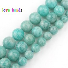 natural gem beads genuine amazonite round stone beads for jewelry making 15inches/strand 6/8/10mm pick size